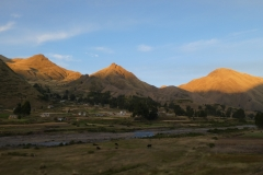 Sunset on the Andean plains